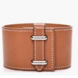 Hermès Barenis Izy Veau Cuff in brown/tan